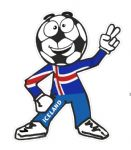 Novelty FOOTBALL HEAD MAN With Iceland Icelandic Flag Motif For Football Soccer Team Supporter Vinyl Car Sticker 100x85mm